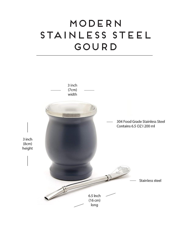 Amazon.com: Juego de mate, taza de acero inoxidable mate con ...