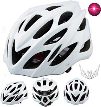 Casco de bicicleta con luz LED trasera integrada y visera, con ...