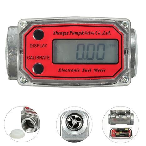 1inch Digital Oval Gear Turbine Flowmeter Kerosene Fuel Flow Meter  15-120L/Min