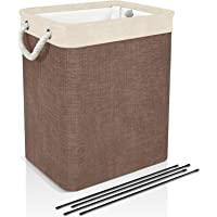 DYD Laundry Basket with Handles & Brackets 65L/78L Small/Large/Tall Hamper for Kid Girl Multi-Pack Collapsible Washing…