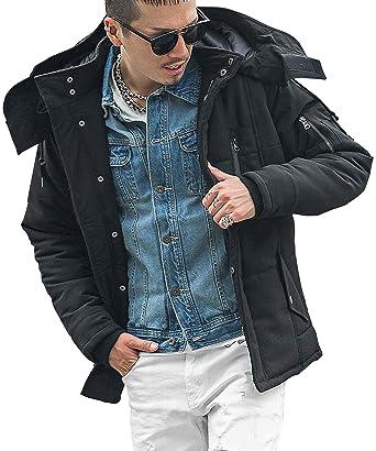 d1ab9af9b3cda Amazon | ディバイナー(DIVINER) 中綿ブルゾン 異素材切替中綿ブルゾン ジャケット メンズ シンプル 無地 | コート・ジャケット 通販