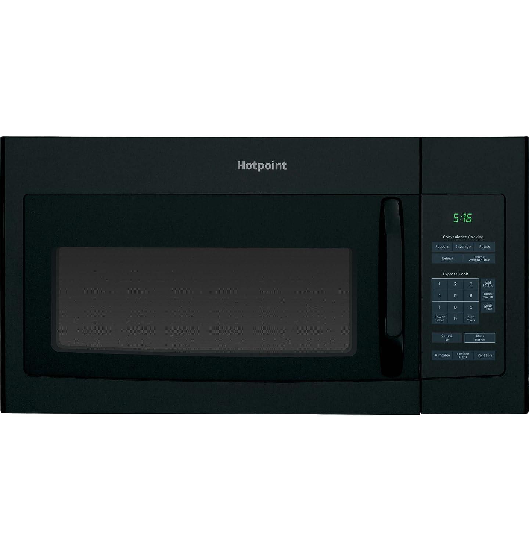 "Hotpoint RVM5160DHBB 1.6 cu. ft. Over-The-Range Microwave Oven Black , 16.5"" Height, 29.875"" width, 15.25"" Length"
