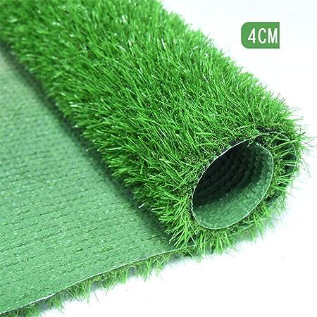 YNGJUEN 40mm (1.6 Pulgadas) Césped Artificial Sintético Alfombra Falsa Alfombra Sintética para Mascota Jardín Patio Interior con Agujero De Drenaje Anti-UV (Color : Green, Size : 2mX1m): Amazon.es: Hogar
