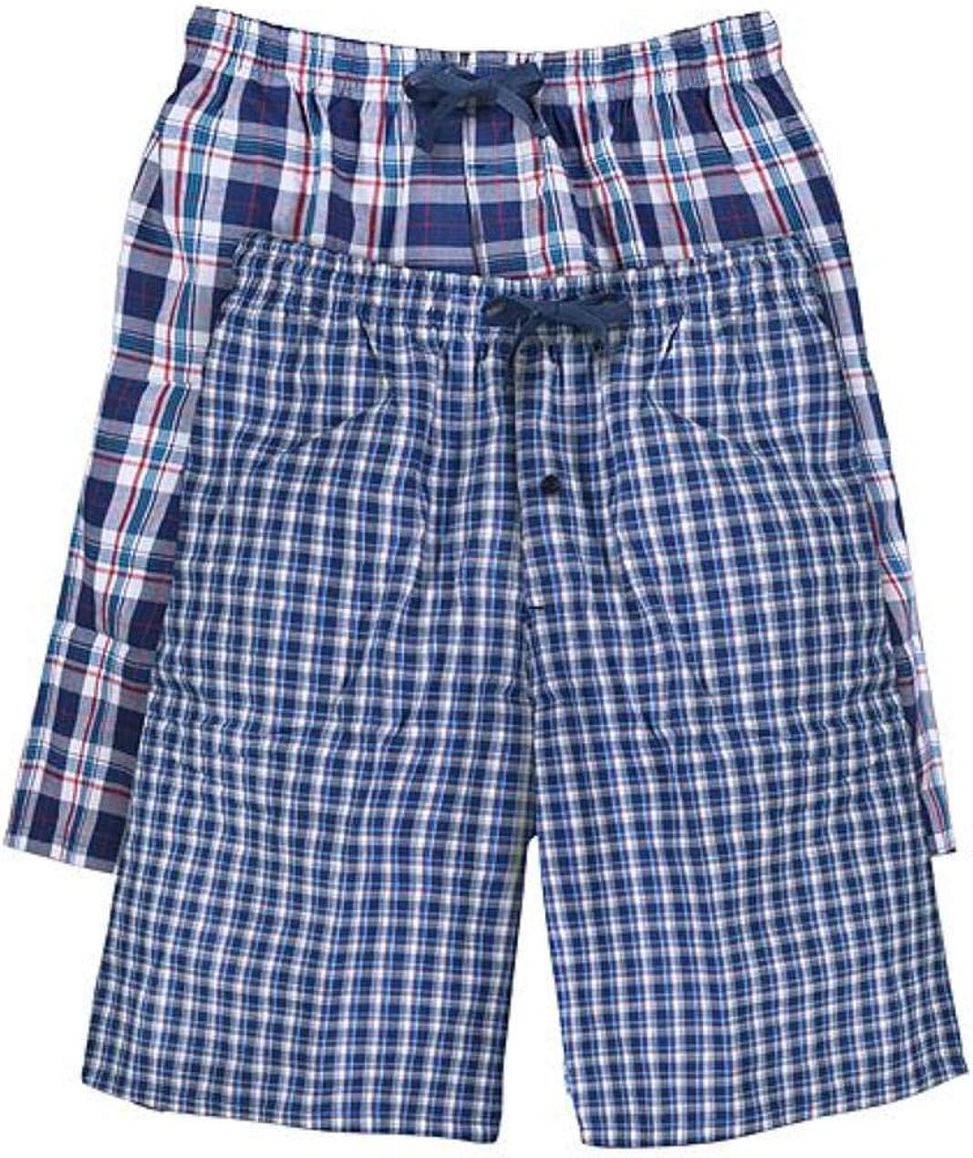 Hanes Men's 2-Pack Woven Pajama Short at  Men's Clothing store