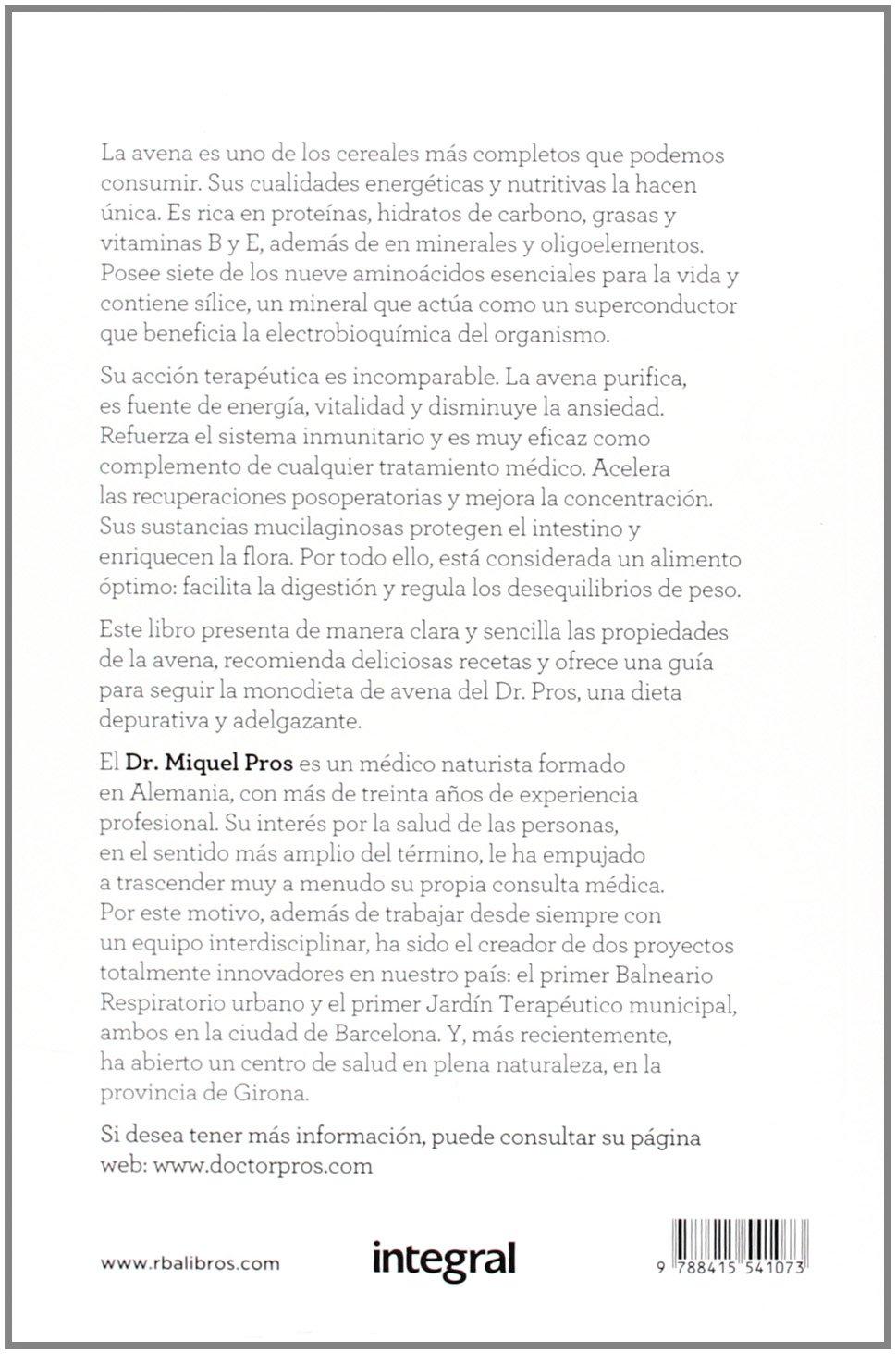 Como cura la avena: DR. MIQUEL PROS CASAS : 9788415541073: Amazon.com: Books