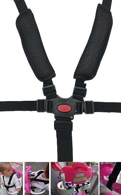 Wommty Buggy-Kind 5 Point Verstellbares Harness Safe Sicherheitsgurt Sicherheitsgurte Gurt f/ür Buggy Hochstuhl Kinderwagen Buggy Kinder Kid Kinderwagen