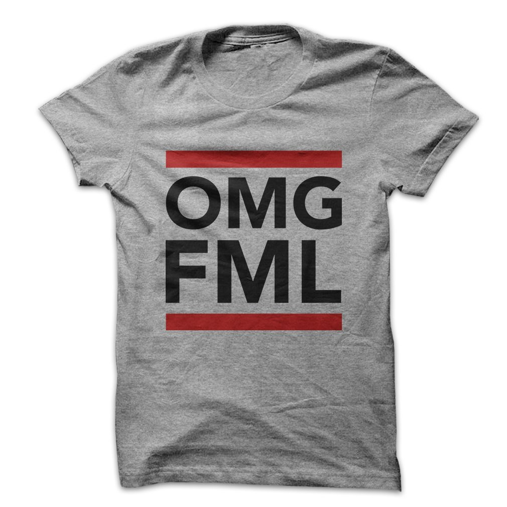 3b6159d3 Amazon.com: Mad Over Shirts OMG FML Funny Internet Quote Men's T Shirt:  Clothing