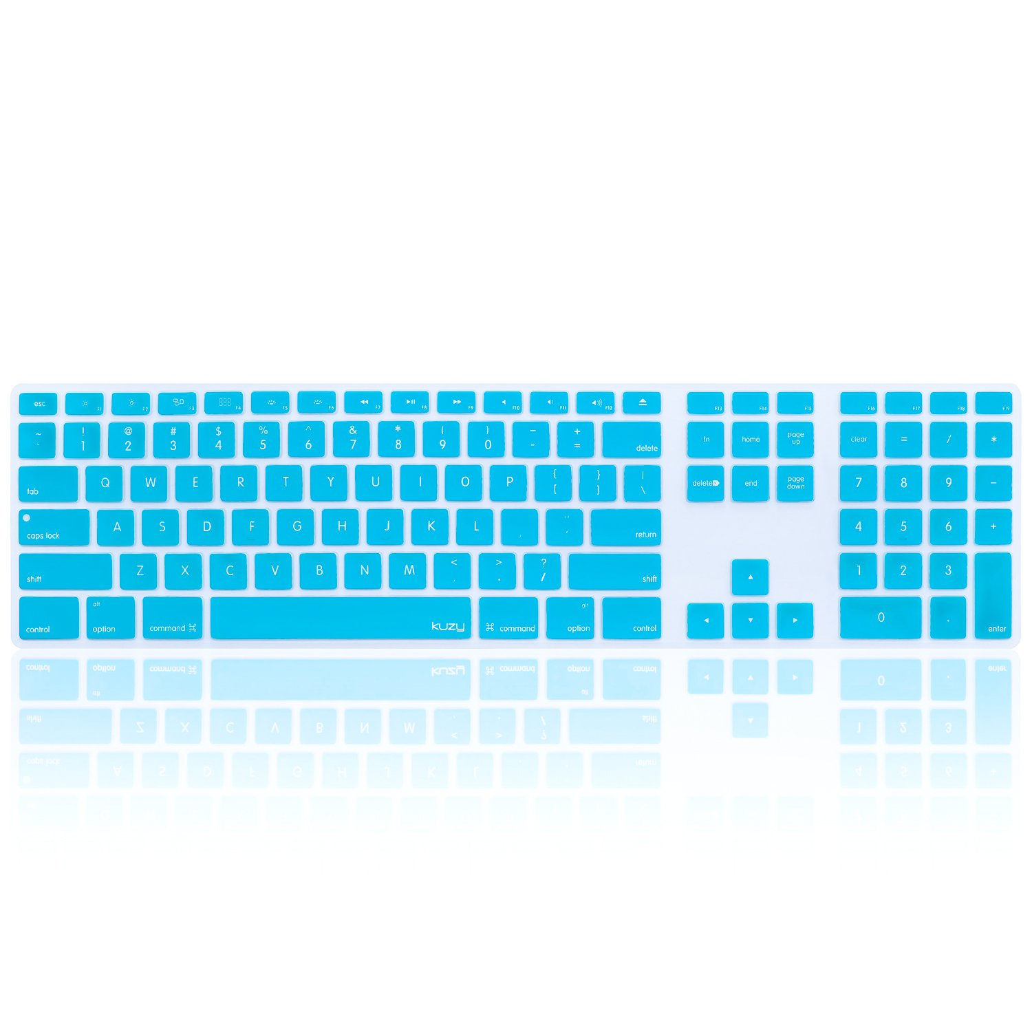 Amazon.com: Kuzy Full Size TEAL Keyboard Cover Skin Silicone for ...