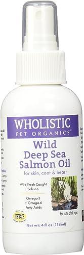 Wholistic Pet Organics Feline Wild Deep Sea Salmon Oil Spray Supplement, 4 fl. oz