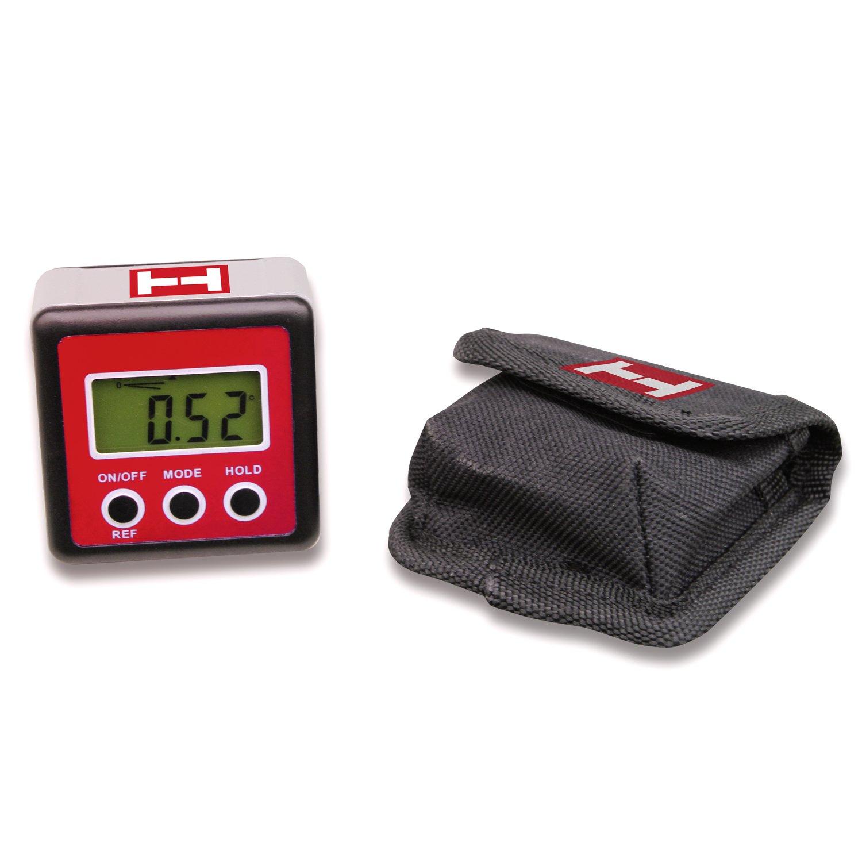 Prä zise digitale Wasserwaage, digitaler Winkelmesser, magnetisch, mit bel. Display, inkl. Gü rteltasche Handler Instruments
