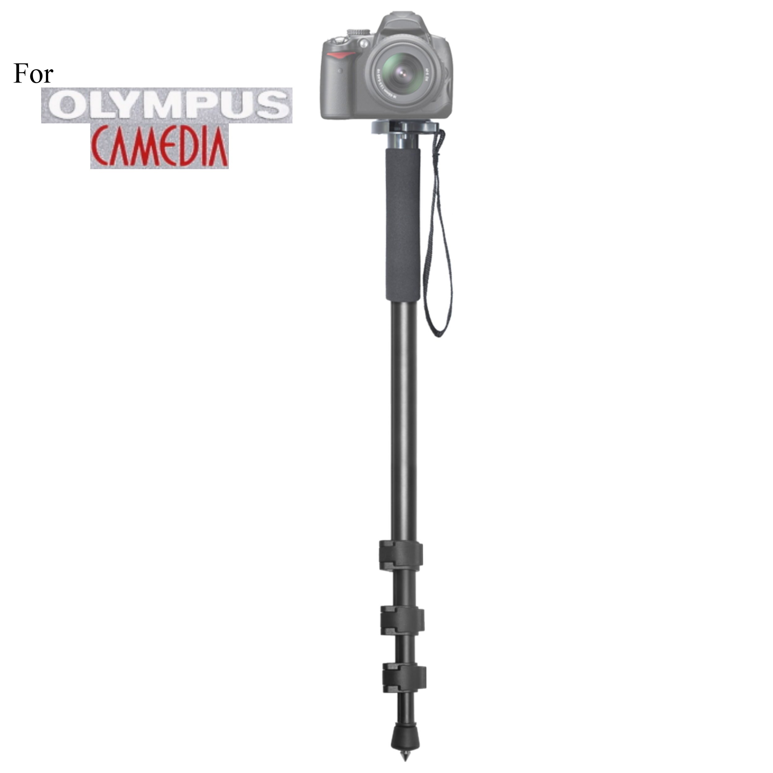 Versatile 72'' Monopod Camera Stick + Quick Release for Olympus C-5050 Zoom, C-5060 Wide Zoom, C-7070 Wide Zoom, C-750 UZ, C-8080 Wide Zoom Digital Cameras: Collapsible Mono pod, Mono-pod