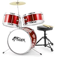 Tiger JDS7-RD - Batería infantil para principiantes, color rojo