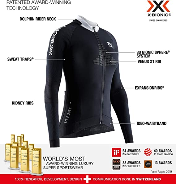 X-Bionic Invent 4.0 Cycling Zip Long Sleeves Women, Bicicleta De ...