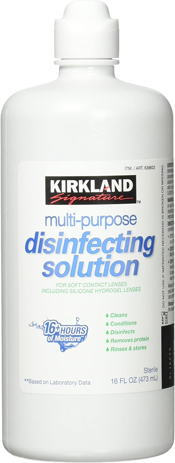 Kirkland Signature Multi-Purpose Disinfecting Solution for Soft Contacts 3pack 16oz each