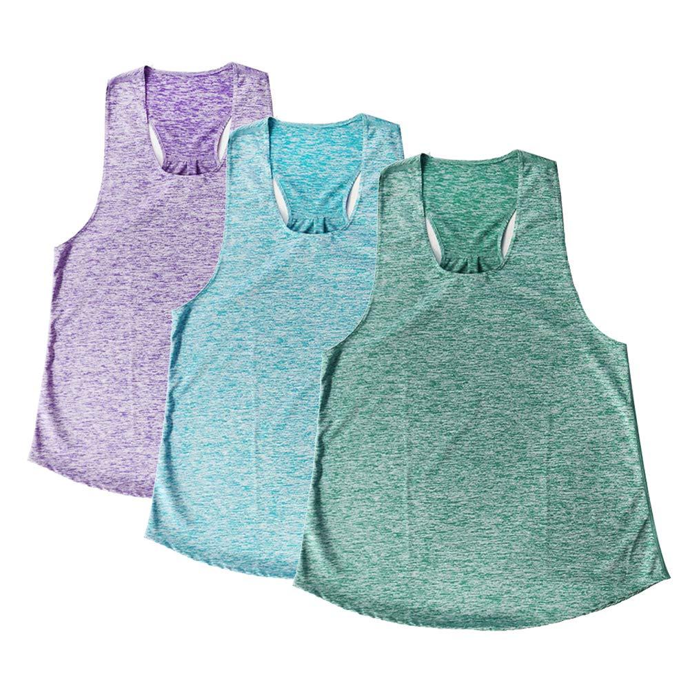 Ultrafun Women Activewear Yoga Tank Top Sleeveless Loose Fit Quick Dry Racerback Flowy Athletic Running Workout Shirts