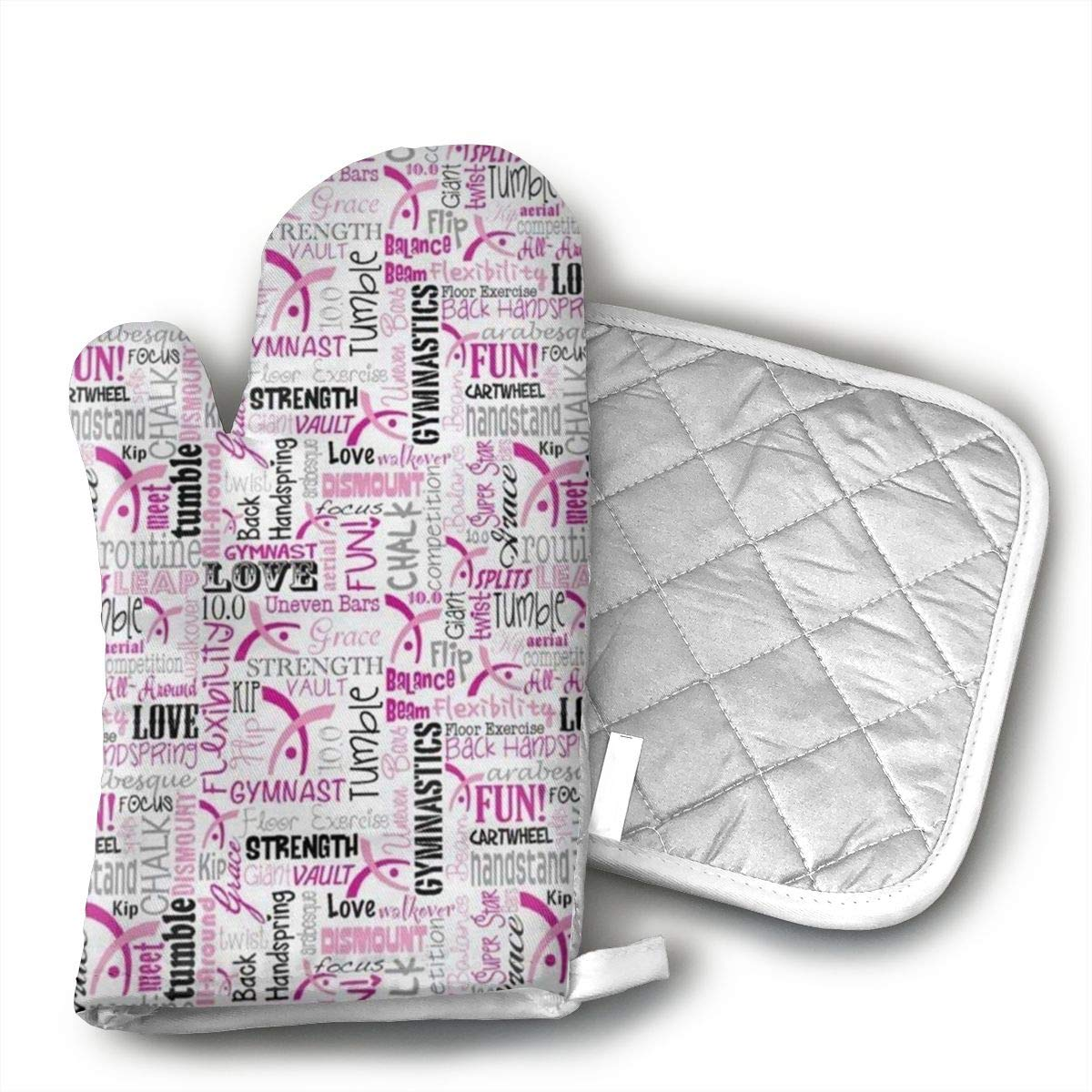 Amazon.com: BVAQGFGA12 Gymnastics Stylish Oven Mitts and ...