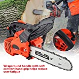 """25.4CC 12"""" Gas Powered Chainsaw, Professional"""