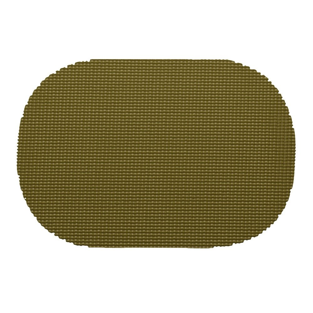 12 Piece Moss Placemats,(Set of 12), Machine Washable, Solid Pattern, Oval Shape, Contemporary And Traditional Style, Perfect For Everyday Entertaining, Season Or Holiday Lace Material, Dark Green