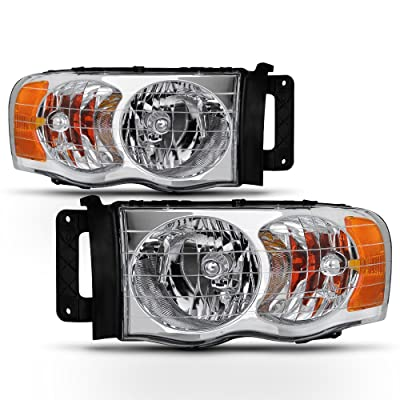 ACANII - For 2002 2003 2004 2005 Dodge Ram 1500 2500 3500 Truck Headlights Headlamps Assembly Driver + Passenger Side: Automotive