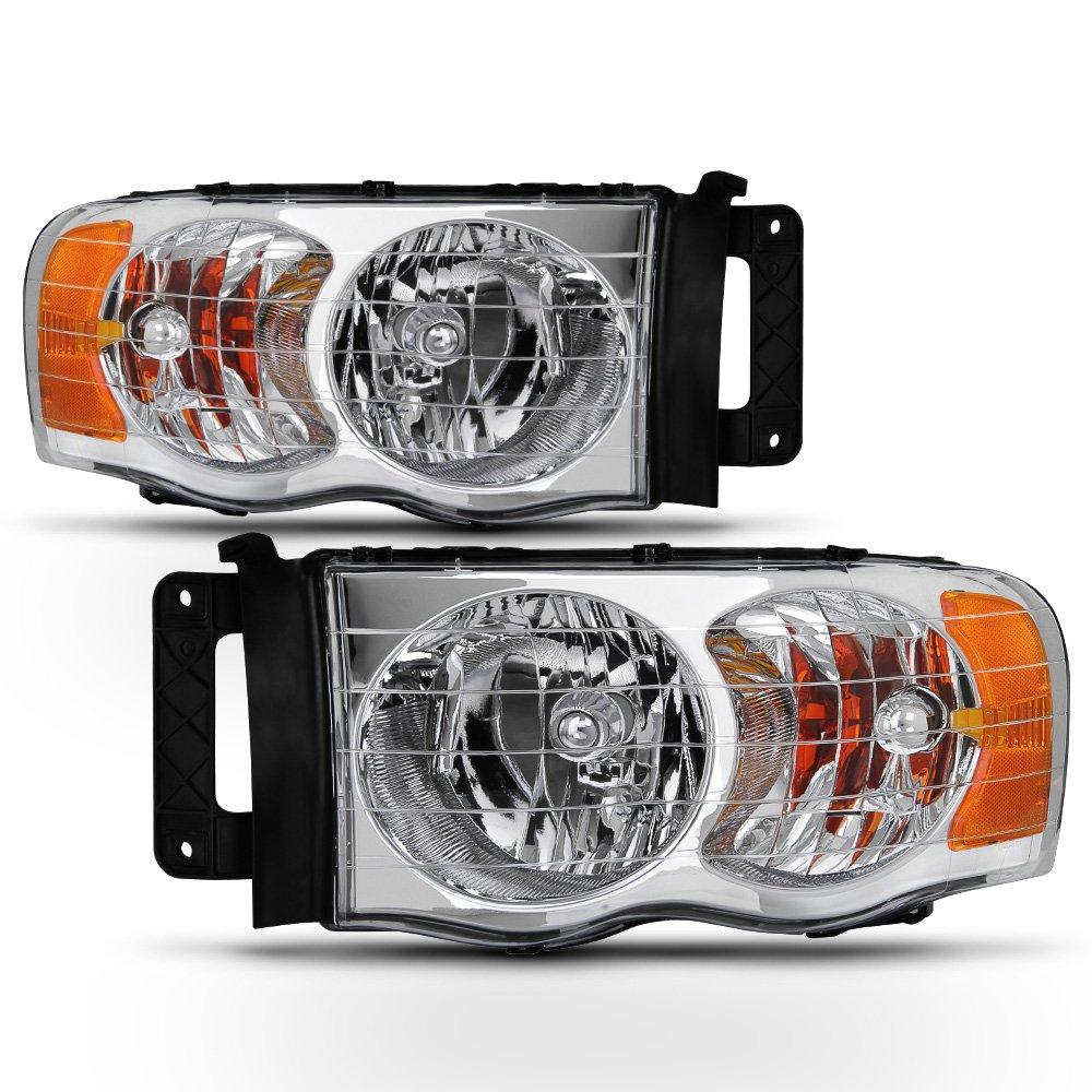 ACANII - For 2002 2003 2004 2005 Dodge Ram 1500 2500 3500 Headlights Aftermarket Driver + Passenger Side
