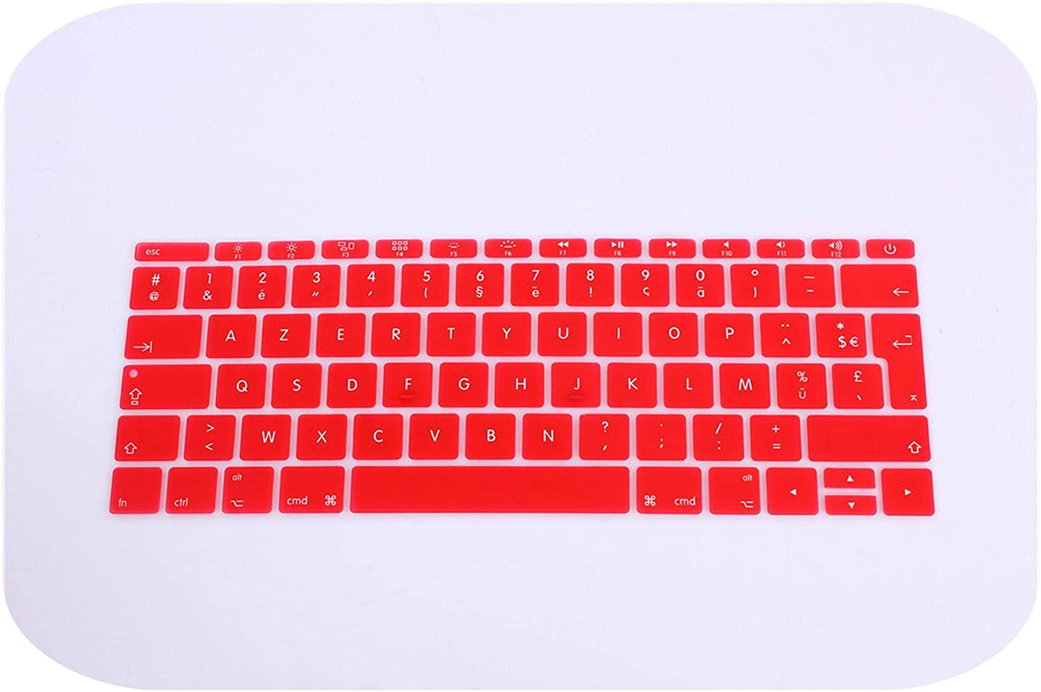 Film Pour Clavier 12 French Franch Silicone Keyboard Cover Protector Skin for Mac Book 12 Inch French Keyboard Cover Azerty 12 2016-Whiteblue