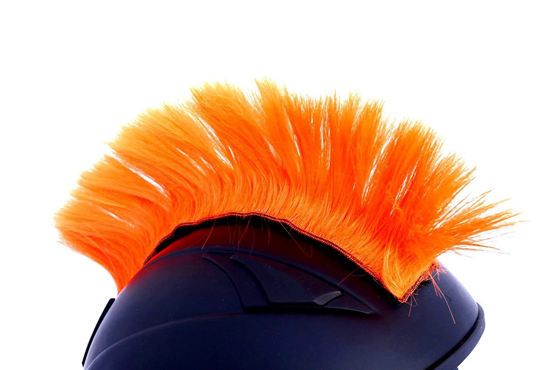 Amazon.com: Casco para moto Mohawk, Naranja fluorescente ...