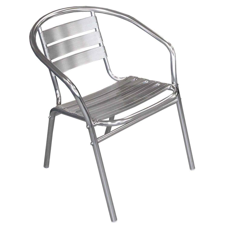 30 Stück Bistrostuhl stapelbar Aluminium Stapelstuhl Campingstuhl Gartenstuhl Küchenstuhl Gartenmöbel Silber