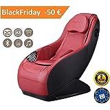 Fauteuil de massage et relaxation GURU (rouge), 3 modes de massage, son surround 3D, conçu pour le confort et le repos - Garantie Officiel 2 ANS de Global Relax France