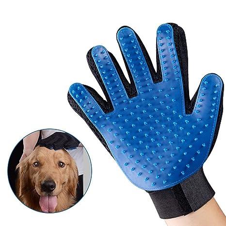 Lomire 1 Pcs Cepillo Guantes Masaje de Silicona para Mascotas Perros Gatos, Productos Limpieza de