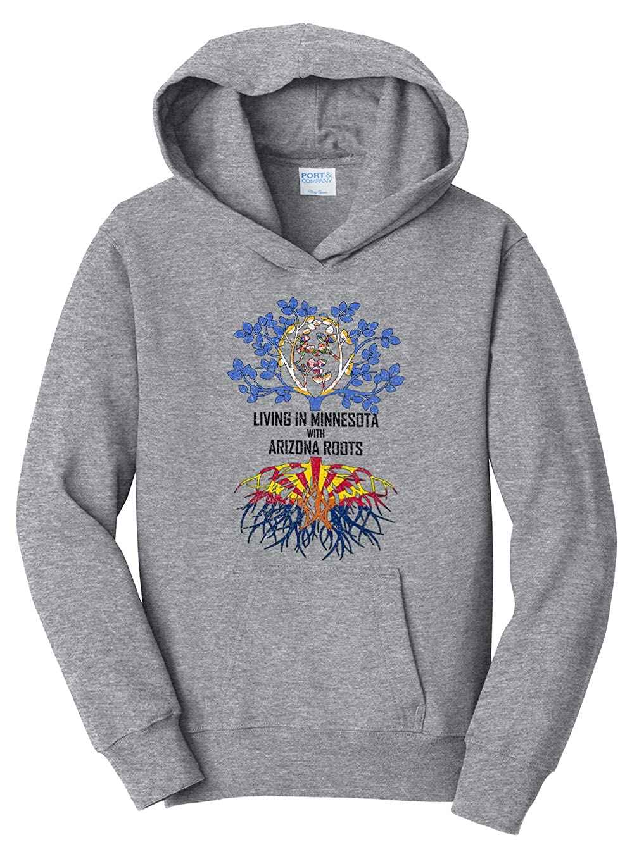 Tenacitee Girls Living in Minnesota with Arizona Roots Hooded Sweatshirt