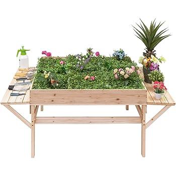 Amazon.com : Keter Easy Grow Patio Garden Flower Plant Planter ...