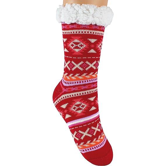 Calcetines TeddyTs, para mujer, gruesos, térmicos, con forro polar, mullidos,