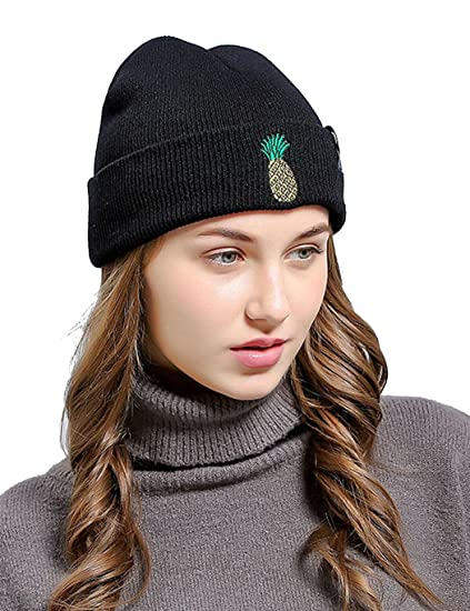 c2467332969 Etuoji Unisex Warm Pineapple Embroidered Cuff Beanie Cap Outdoor Ski  Knitted Hat