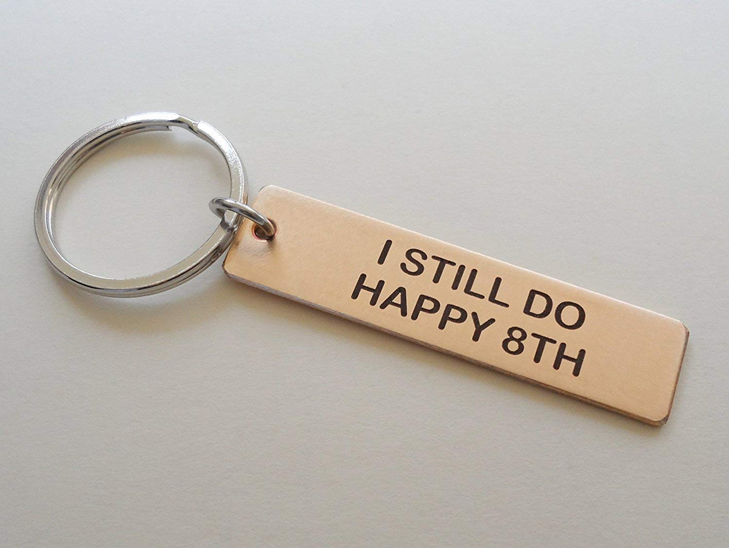 Couples Valentines Anniversary Gift Personalised Carved Initials Love Keyring