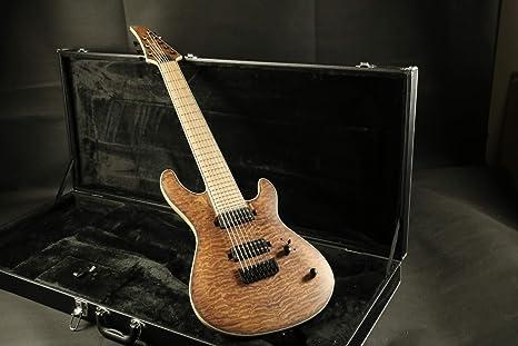 Guitarra eléctrica de 8 cuerdas con cuello alto de arce acolchado ...