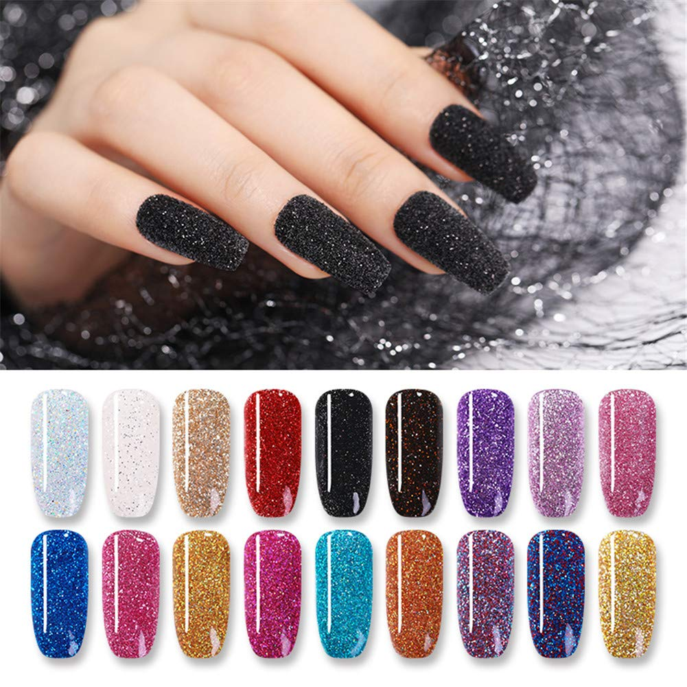 NICOLE DIARY 10g Dipping Nail Powder Colorful Glitter Acrylic Nail Powder Without Lamp Cure Natural Dry Nail Glitter Long Lasting Nail Art Decoration(18 Boxes) by NICOLE DIARY