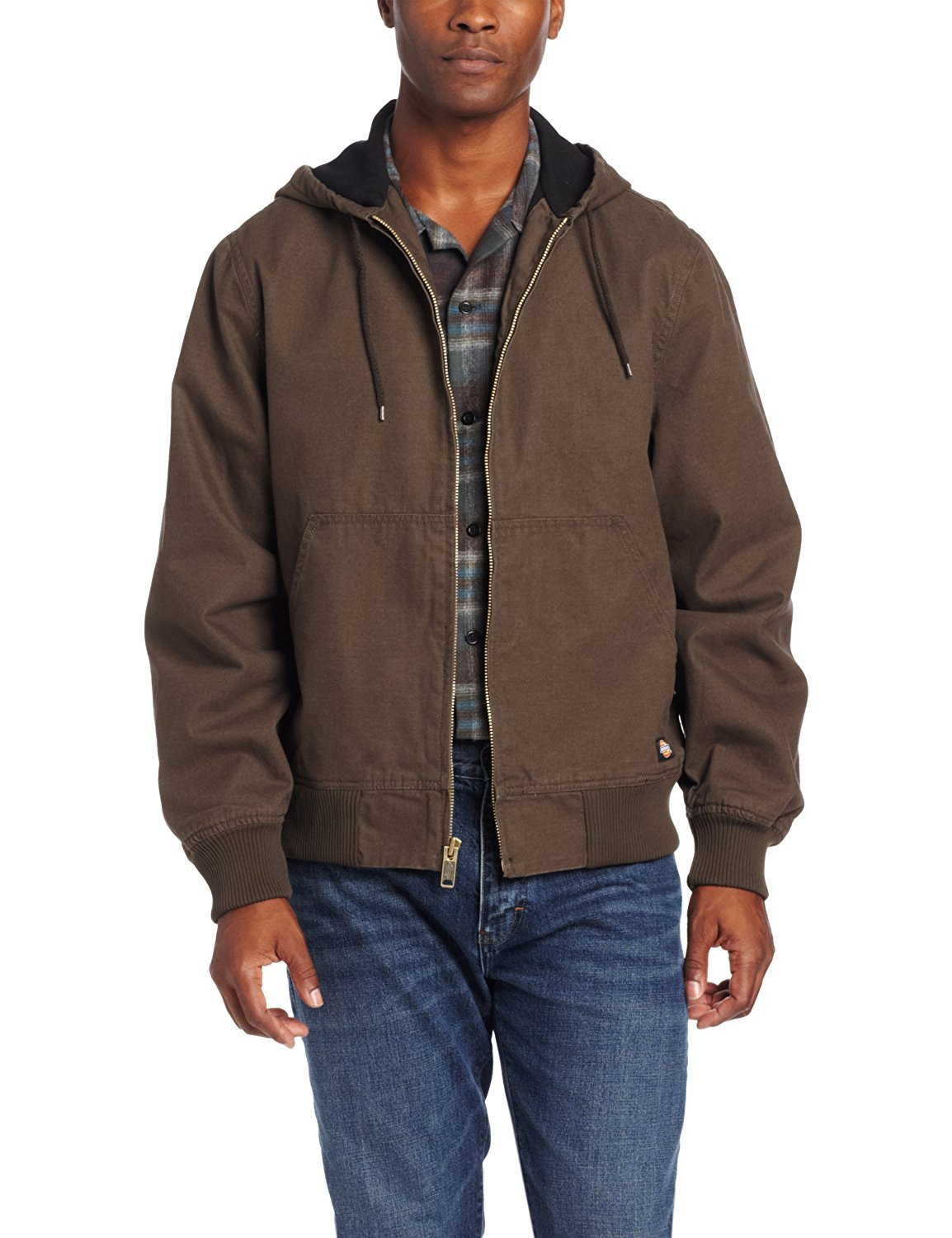 Dickies Men's Light Weight Sanded Duck Thermal Lined Hooded Jacket Black Olive X-Large/Regular [並行輸入品] B077QG2SFL
