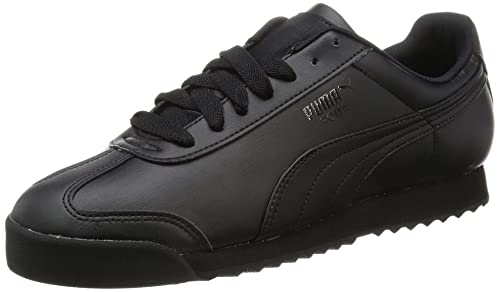 Puma Men s s Roma Basic Low-Top Sneakers Black  Amazon.co.uk  Shoes ... 550522daa