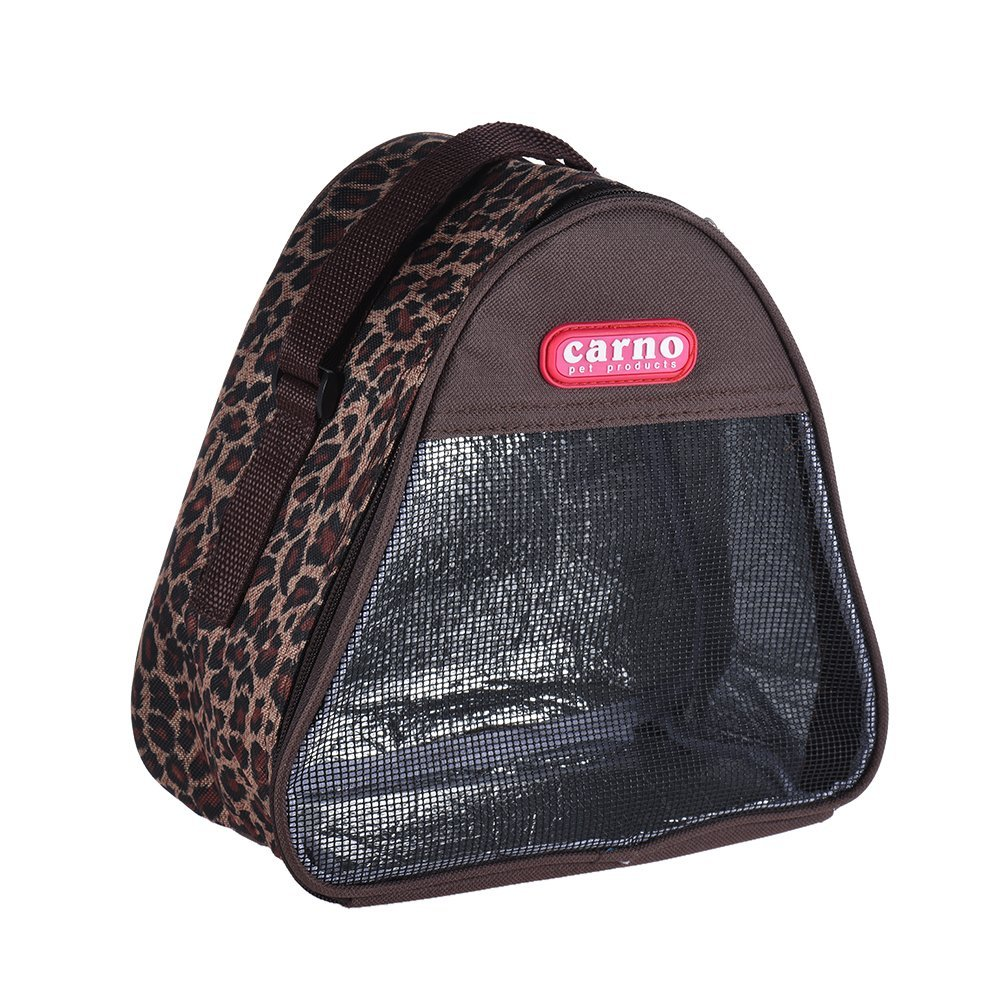 Decdeal Hamster Pet Tote Bag Portable Breathable Rat Mouse Outgoing Carrier 21.5 15 18.5cm