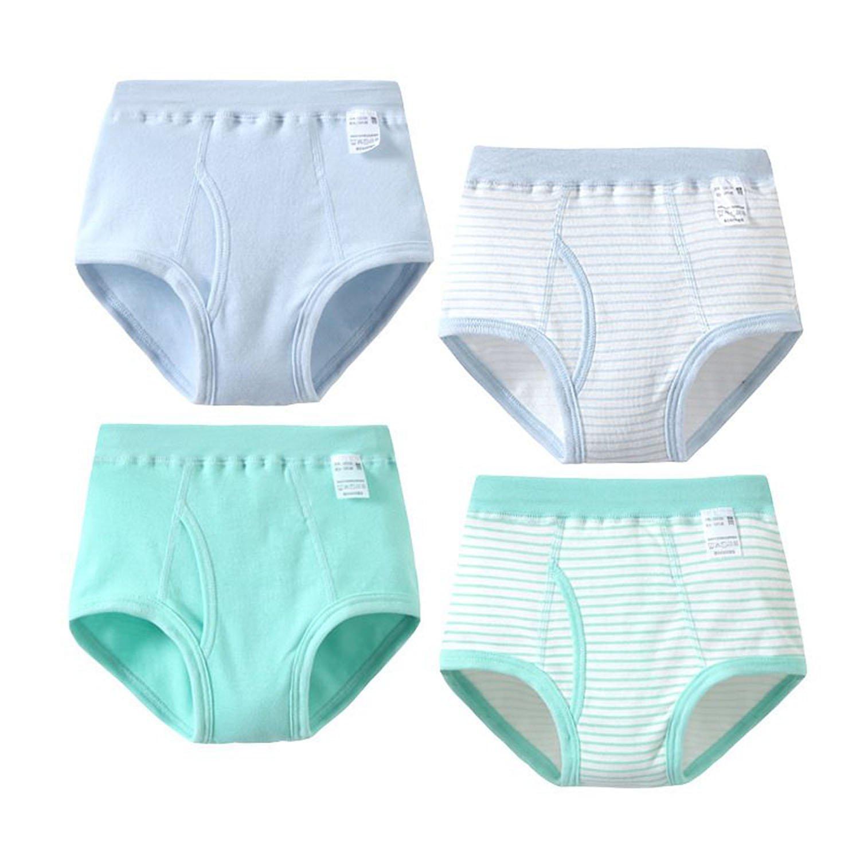 Mutande Intimo in Cotone Pantaloncini Briefs a righe Confezione da 4 2-12 anni Feicuan Boxer Bambini Ragazzi