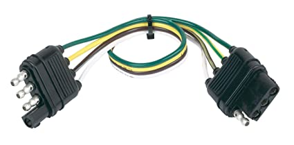Tremendous Amazon Com Hopkins 48145 4 Wire Flat Extension 12 Length Automotive Wiring 101 Archstreekradiomeanderfmnl