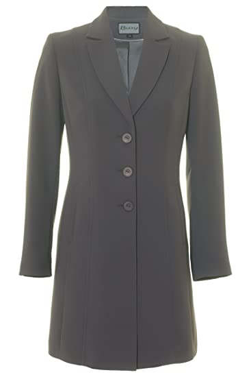 06db88ed94216 Busy Clothing Women Long Suit Jacket Grey: Amazon.co.uk: Clothing