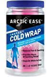 """Arctic Ease Reusable Instant Cold Wrap, large size, measures 4"""" X 60"""", sized for large joints/muscles including hamstring, quads, thigh, shoulders, knees and hips, Pink"""