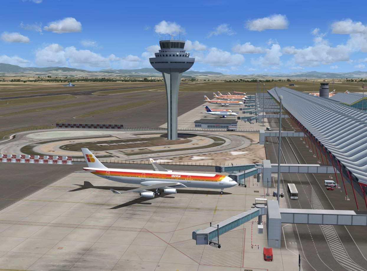 Extension de Flight Simulator Mega Aeropuerto Madrid FSX y ...