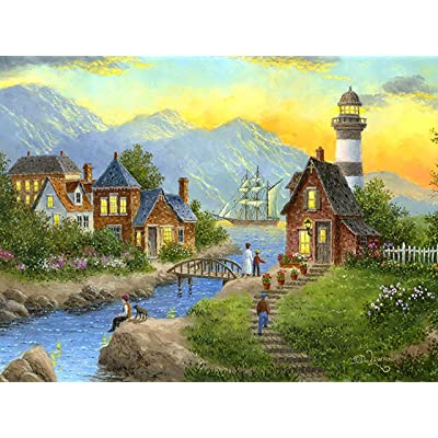 Bayside Afterglow 1000 Piece Jigsaw Puzzle by SunsOut: Toys & Games