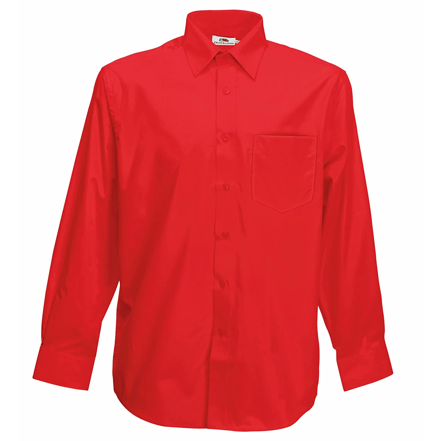 Fruit of the Loom Long Sleeve Poplin Shirt, Camicia Uomo 65-118-0
