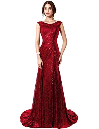 Clearbridal Women\'s Sequin Evening Dress: Amazon.co.uk: Clothing