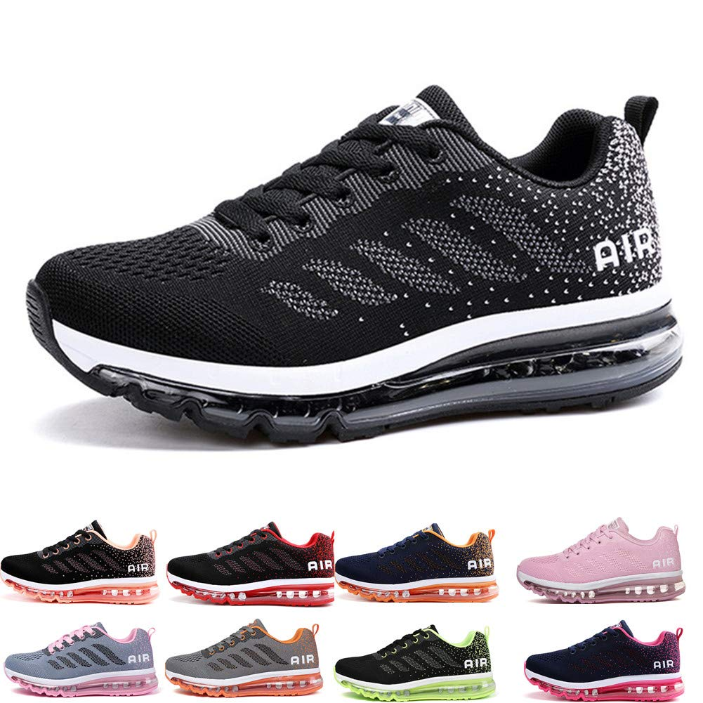2c008db0985d8a frysen Herren Damen Sportschuhe Laufschuhe mit Luftpolster Turnschuhe  Profilsohle Sneakers Leichte Schuhe product image
