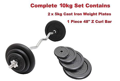 FXR Sports TRICEP BAR 40KG SET w//IRON TRI GRIP 1 WEIGHT PLATES GYM WEIGHTS