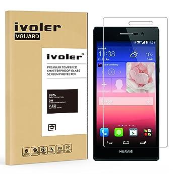 iVoler Protector de Pantalla para Huawei P7, Cristal Vidrio Templado Premium: Amazon.es: Electrónica